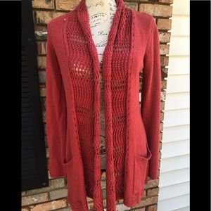 Angel of the North open knit cardigan EUC